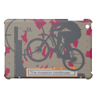 Biking Invasion Maroon  iPad Mini Cases