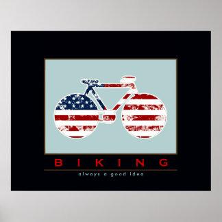 BIKING is always a good idea Poster