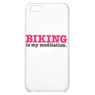 Biking Is Meditation (red) iPhone 5C Cover