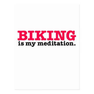 Biking Is Meditation (red) Postcard