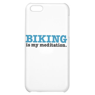 Biking Is Meditation (the blue route) iPhone 5C Cover
