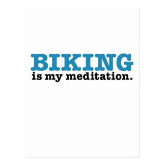 Biking Is Meditation (the blue route) Postcard