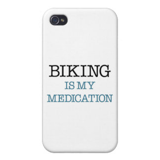 Biking is my Medication iPhone 4 Case