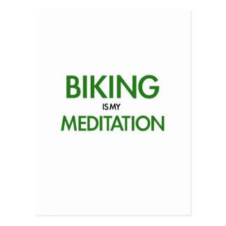 Biking is my Meditation Postcard