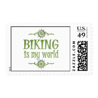 Biking is My World Postage