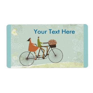 Biking Personalized Shipping Label