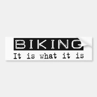Biking lo es etiqueta de parachoque