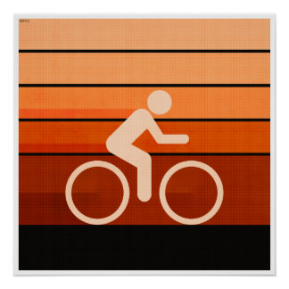 Biking Orange Posters