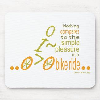 Biking pleasure mouse pad