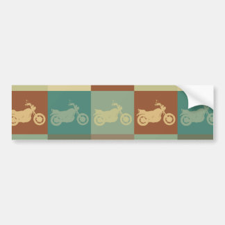 Biking Pop Art Car Bumper Sticker