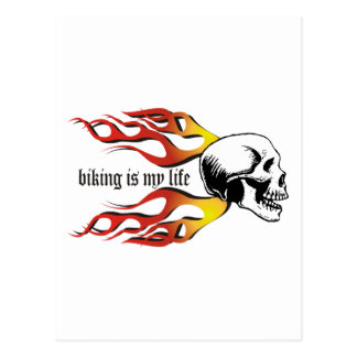 Biking Postcard