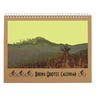 Biking Quotes Calendar