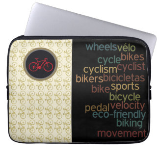 biking related words laptop computer sleeve