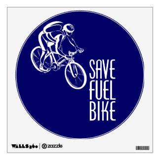 Biking, Save Fuel Wall Decal