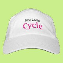 Biking Slogan Just Gotta Cycle Headsweats Hat