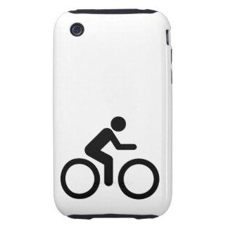 Biking Symbol Tough iPhone 3 Covers