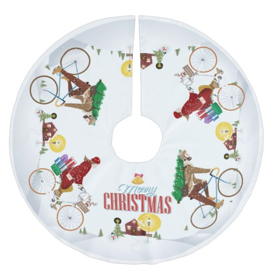 Biking to Grandma's House- Christmas Tree Skirt