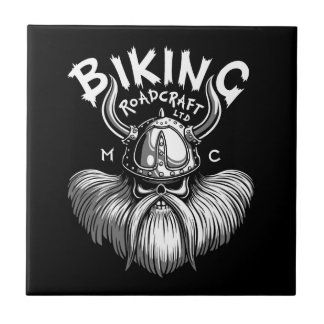 Biking Viking Ceramic Tile