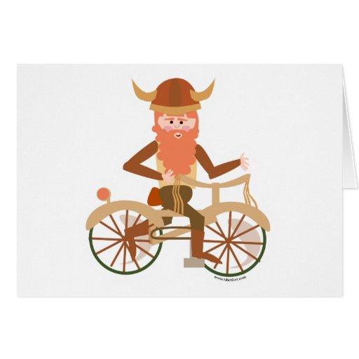 Biking Viking Greeting Cards