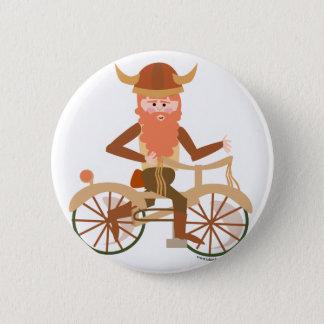 Biking Viking Pinback Button