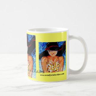 Bikini amarillo del lunar taza de café