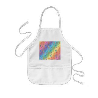 Bikini and sandals rainbow pattern kids' apron