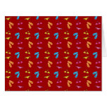 Bikini and sandals red pattern greeting cards
