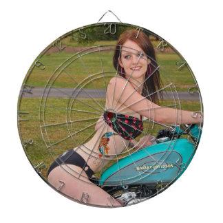 Bikini Biker Babe3 Dart Board