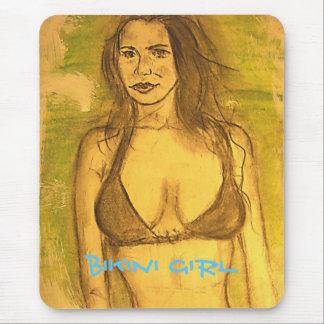 bikini girl art mouse pad