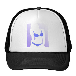 Bikini Girl Blue Trucker Hat