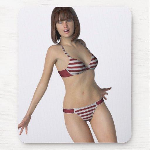 Bikini Girl Bree Mousepad