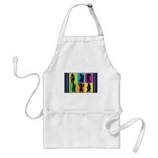 Bikini girls design adult apron