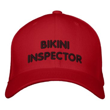 Beach Themed BIKINI INSPECTOR EMBROIDERED BASEBALL CAP