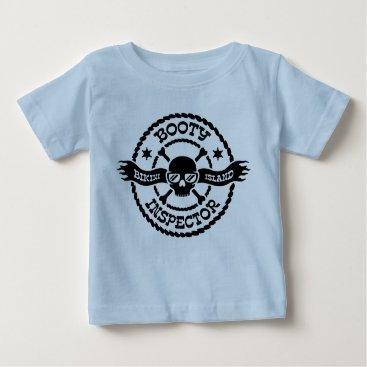 Beach Themed Bikini Island Booty Inspector Baby T-Shirt