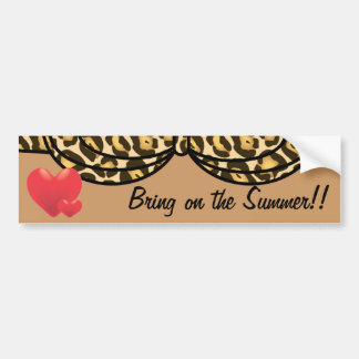 Bikini Leopard Print Car Bumper Sticker