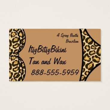 Beach Themed Bikini Leopard Print Business Card