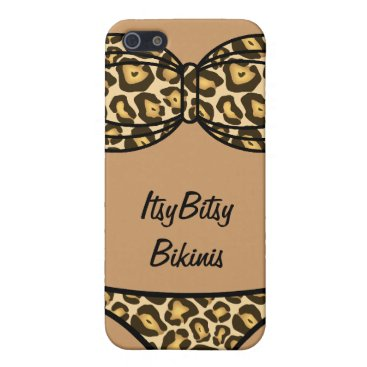Beach Themed Bikini Leopard Print iPhone SE/5/5s Case