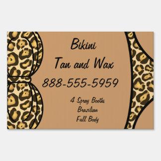 Bikini Leopard Print Sign