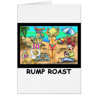 Bikini Rump Roast Funny Offbeat Tees & Gifts Card