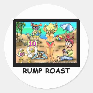 Bikini Rump Roast Funny Offbeat Tees & Gifts Classic Round Sticker