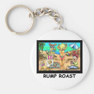 Bikini Rump Roast Funny Offbeat Tees & Gifts Keychain