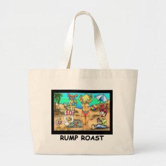 Bikini Rump Roast Funny Offbeat Tees & Gifts Large Tote Bag
