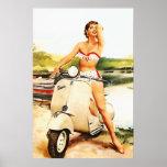 Bikini Scooter Girl Poster
