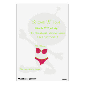 Bikini Shop Marketing Alien Shape Wall Decals