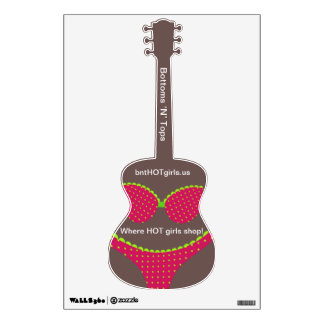 Bikini Shop Marketing Guitar Wall Decals