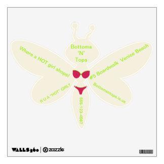 Bikini Shop Marketing Wall Dragonfly Decals