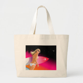 Bikini_Surfboard Large Tote Bag