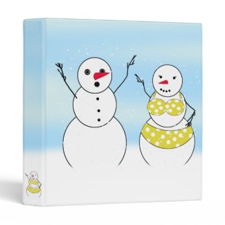Bikini Time Snowmen Binder