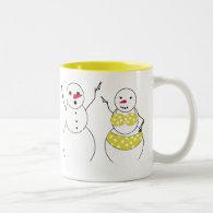 Bikini Time Snowmen Mug