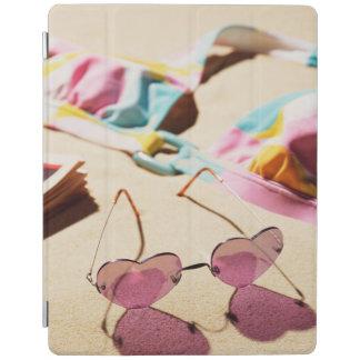 Bikini Top And Heart Shape Sunglasses On Beach iPad Smart Cover
